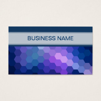 Multicolor Geometric Hexagon Pattern 2 Business Card