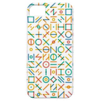 Multicolor Geometric Line Random Shapes Grid iPhone SE/5/5s Case
