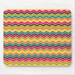 Multicolor girly chevron mousepad