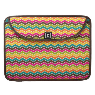 Multicolor girly chevron sleeve for MacBooks