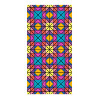 Multicolor glass mosaic card