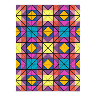 Multicolor glass mosaic card
