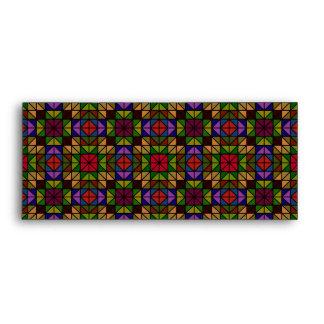 Multicolor glass mosaic envelopes