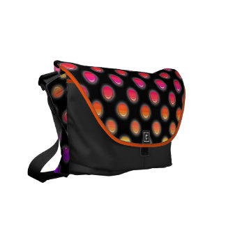 Multicolor Glowing Dots Messenger Bags