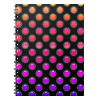 Multicolor Glowing Dots Spiral Notebook