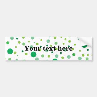 Multicolor green polka dots  bumper sticker