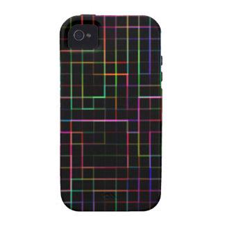 Multicolor grid iPhone 4/4S case