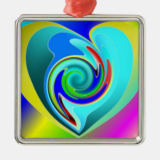 Multicolor Heart Abstract Ornament