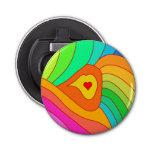 Multicolor heart bottle opener