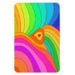 Multicolor heart magnet