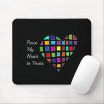 Multicolor heart mouse pad