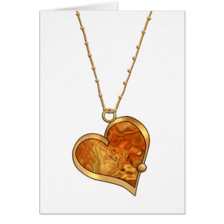 Multicolor Heart Pendant  Necklace-012 Card