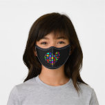 Multicolor heart premium face mask