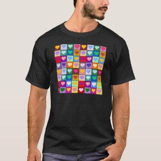 Multicolor Heart Squares T-Shirt