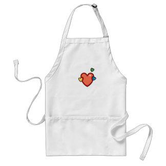 Multicolor Hearts Adult Apron