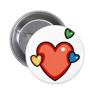 Multicolor Hearts Pins