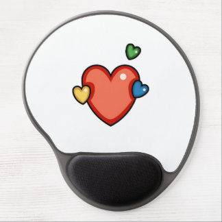 Multicolor Hearts Gel Mousepads