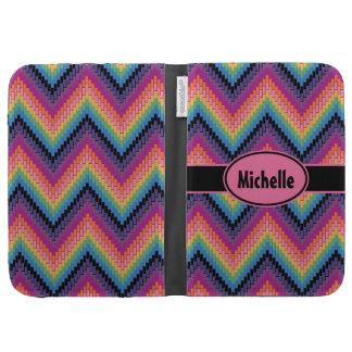 Multicolor Herringbone Cases For Kindle