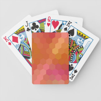 Multicolor Hexagonal Seamless Pattern 3 Bicycle Playing Cards