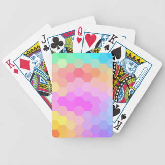 Multicolor Hexagonal Seamless Pattern Bicycle Playing Cards