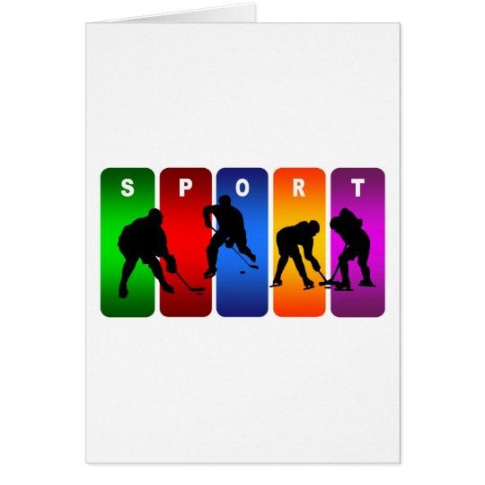 Multicolor Hockey Emblem Card