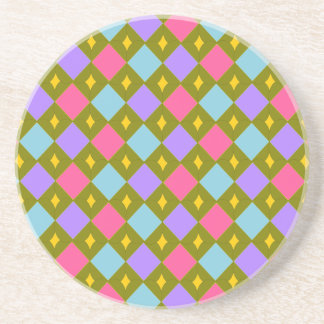 Multicolor Honeycomb Create your own Sandstone Coaster