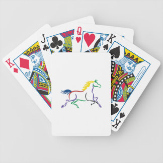Multicolor Horse Bicycle Playing Cards