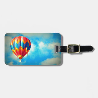 Multicolor Hot Air Balloon Bag Tag