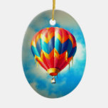 Multicolor Hot Air Balloon Christmas Ornaments