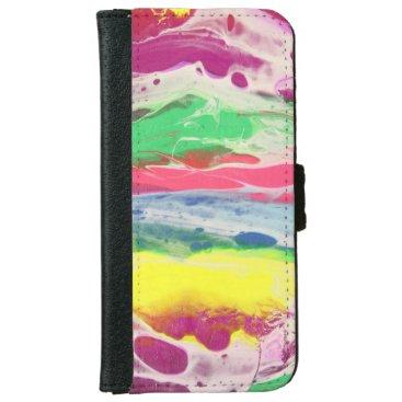 multicolor iPhone 6/6s wallet case