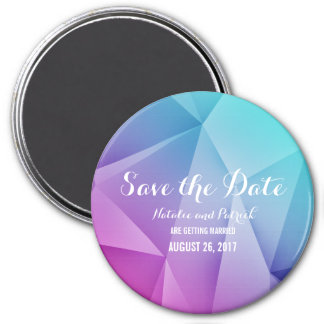 Multicolor Jewel Tones Save the Date Magnet