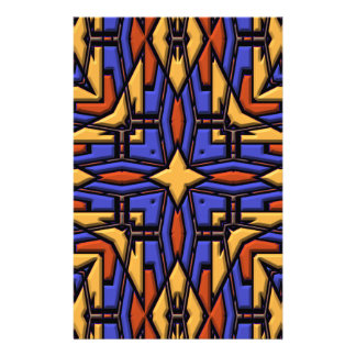 Multicolor Kaleidoscope. Quilted Digital Design Stationery