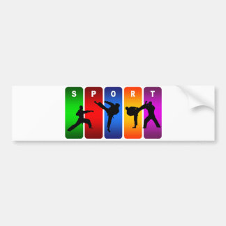 Multicolor Karate Emblem Bumper Sticker