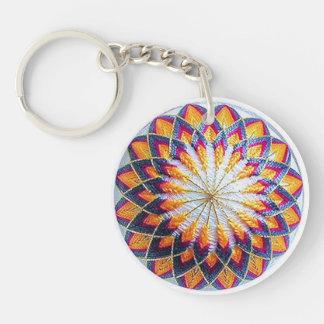 Multicolor Kiku Keychain, Acrylic Keychain