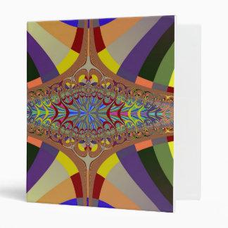 Multicolor Ladder Fractal 3 Ring Binder