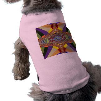 Multicolor Ladder Fractal Dog T-shirt