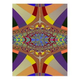 Multicolor Ladder Fractal Postcard