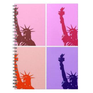 Multicolor Lady Liberty Pop Art Notebook