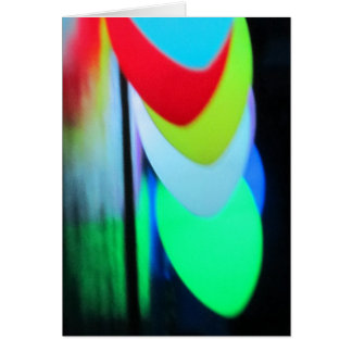 Multicolor Lights Greeting Card