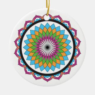 Multicolor Lotus Christmas Ornaments