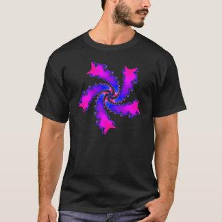 Multicolor magenta and blue fractal spiral T-Shirt