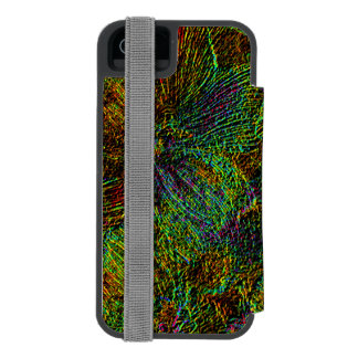 Multicolor metallic floral pattern iPhone SE/5/5s wallet case