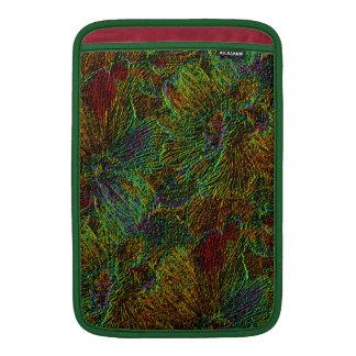 Multicolor metallic floral pattern MacBook sleeve