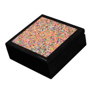 Multicolor Mosaic Modern Grit Glitter #5 Keepsake Box