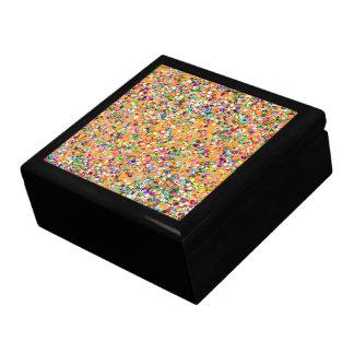 Multicolor Mosaic Modern Grit Glitter #9 Jewelry Box