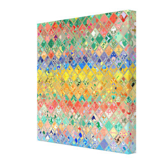 Multicolor Mosaic Pattern Canvas Print