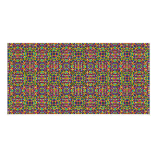 Multicolor mosaic pattern card
