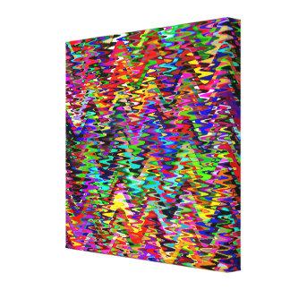 Multicolor Mosaic Wave Pattern #4 Canvas Print