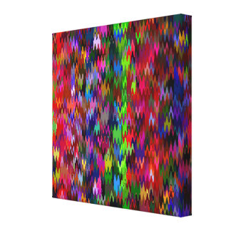 Multicolor Mosaic Wave Pattern #6 Canvas Print