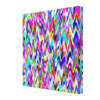 Multicolor Mosaic Wave Pattern Canvas Print